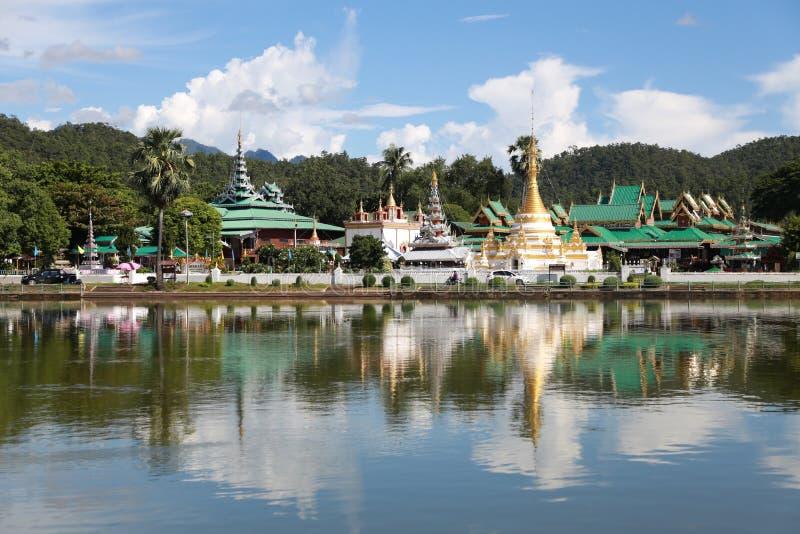 The watjongklang temple at Mueang Mae Hong Son. The watjongklang temple it is a beautiful and unforgettable place of Mae Hong Son tourism royalty free stock photo