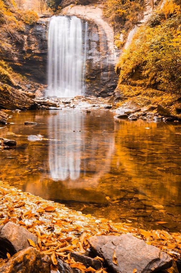 watkins водопада вэльса snowdon путя изображения падений выдержки cwm осени afon llan длинние стоковое изображение rf