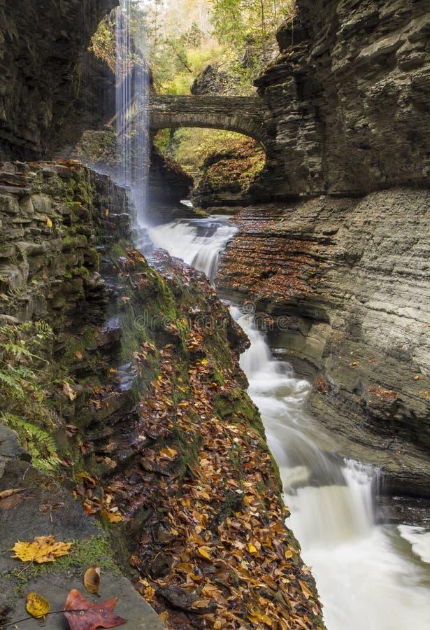 Watkins Glen Rainbow Falls imagem de stock