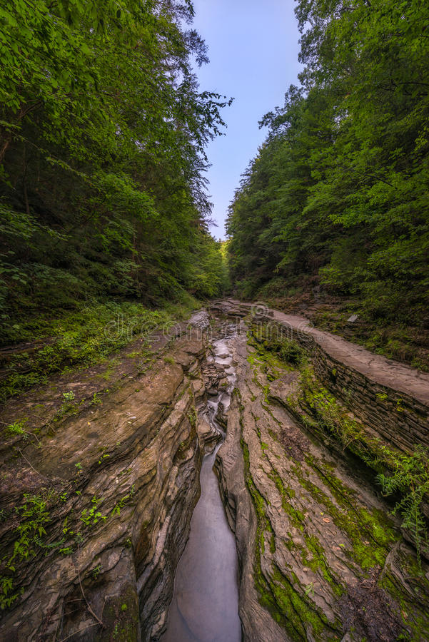 Watkins Glen River stockfoto