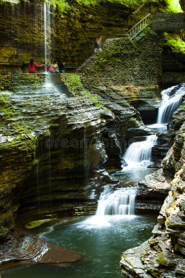 Watkins Glen State Park Watkins Glen Water Fall NY royalty free stock images