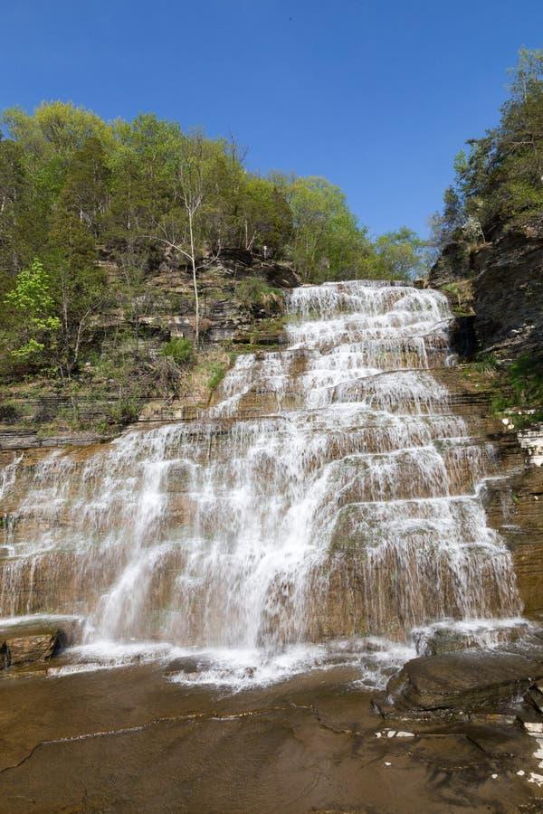 Watkins Glen Waterfall. One of the many falls in watkins glen NY stock photos