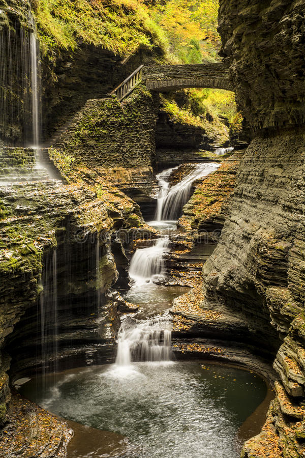 Watkins Glen Waterfalls fotos de stock royalty free