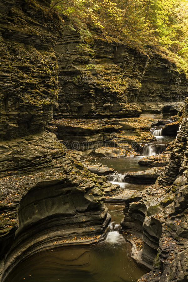 Watkins Glen Waterfalls fotografia de stock