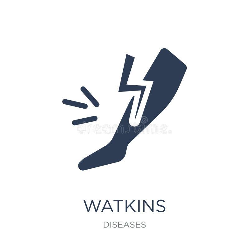 Watkins-Ikone Modische flache Vektor Watkins-Ikone auf weißem backgroun vektor abbildung