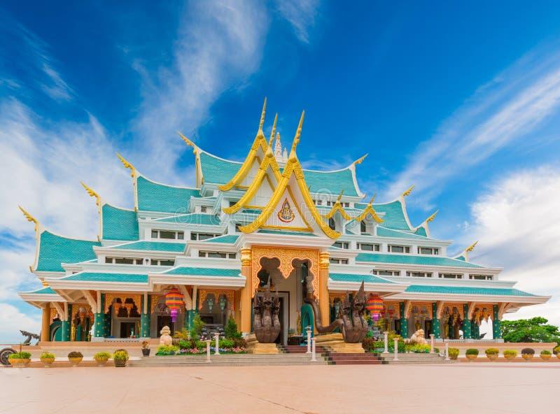 Watpaphukon宗教佛教徒寺庙地方在乌隆他尼,泰国 库存图片
