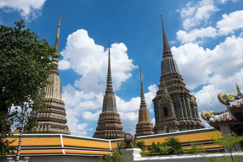 Watpho för fyra pagod royaltyfri bild