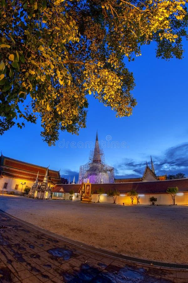 watphra det på Nakhon Si Thammarat, ThailandTHAILAND arkivfoto