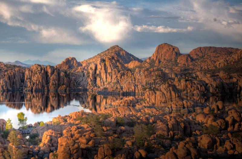 Watson湖公园和花岗岩小山谷普里斯科特亚利桑那 免版税库存照片