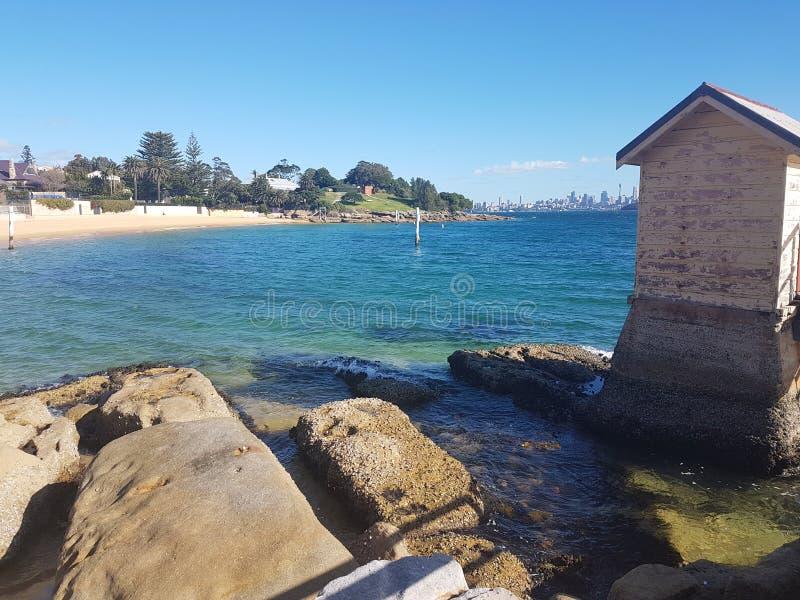 Watson& x27; bahía de s, Sydney foto de archivo