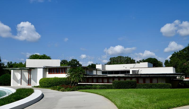 Watson-Fine Administration Building. This is a Summer picture of the Watson-Fine Administration Building on the campus of Florida Southern College located in royalty free stock photos