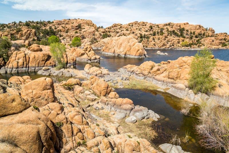 Watson jezioro w prescotcie Arizona obraz stock
