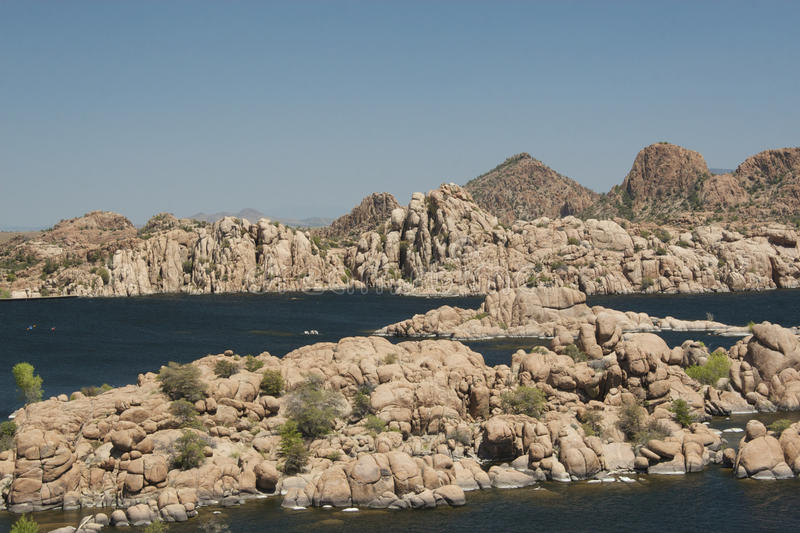 Watson Lake. In Prescott, AZ stock photo
