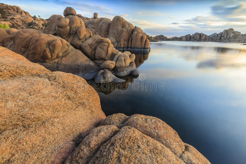 Watson Lake. Morning light at Watson Lake royalty free stock images