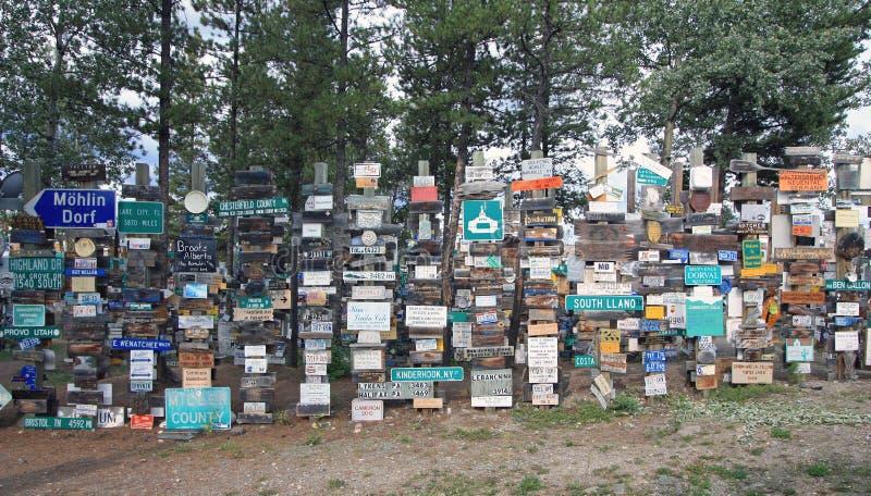 Watson Lake, il Yukon, Canada immagine stock libera da diritti