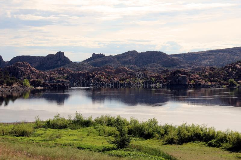 Watson Lake, Prescott, Arizona. Overview of beautiful Watson Lake, Prescott, AZ Arizona stock photography