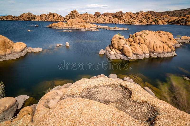 Watson Lake in Prescott Arizona. Stunning views from Watson Lake in Prescott Arizona stock photo