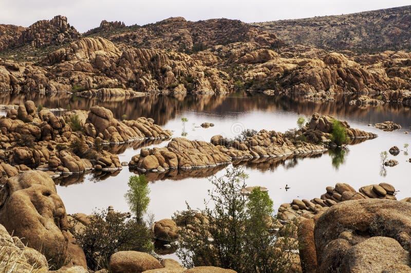 Watson Lake in Prescott, Arizona, USA stock image