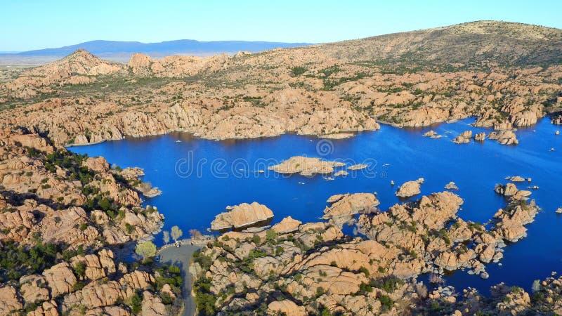 Watson Lake - Prescott Arizona - visión aérea imágenes de archivo libres de regalías