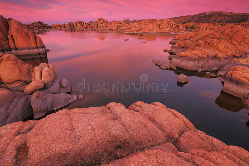 Watson Lake in Prescott, AZ. Watson Lake in the Granite Dells of Prescott, AZ stock photo
