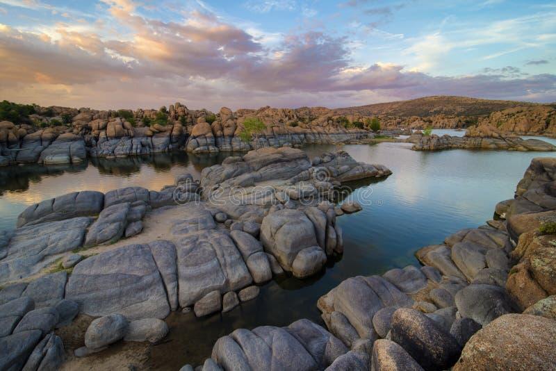 Watson Lake, Prescott AZ royalty free stock photos