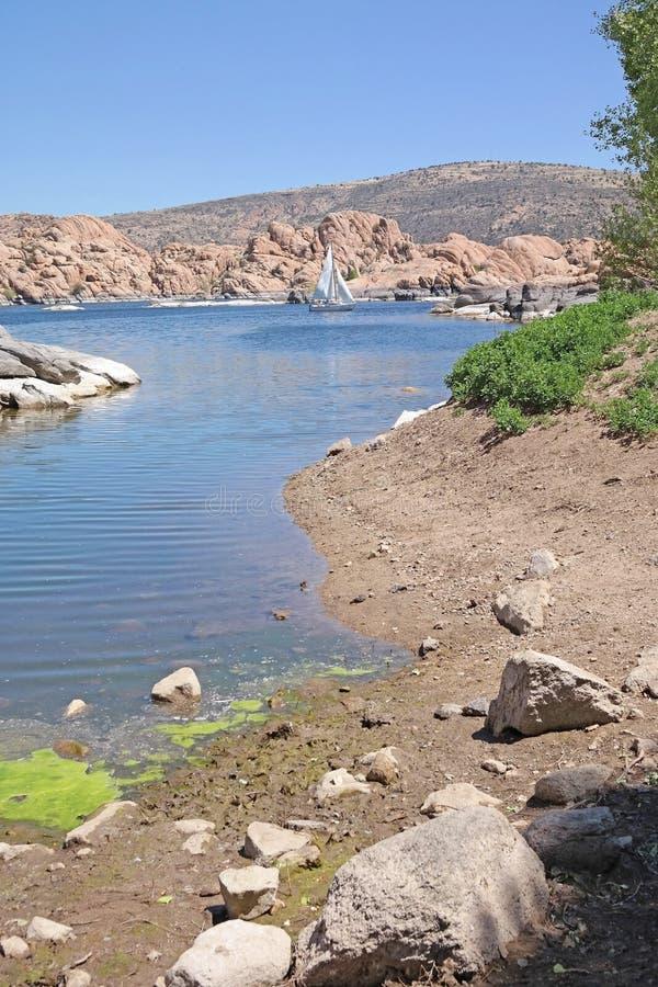 Watson Lake, Prescott, AZ - Sailboating imagens de stock