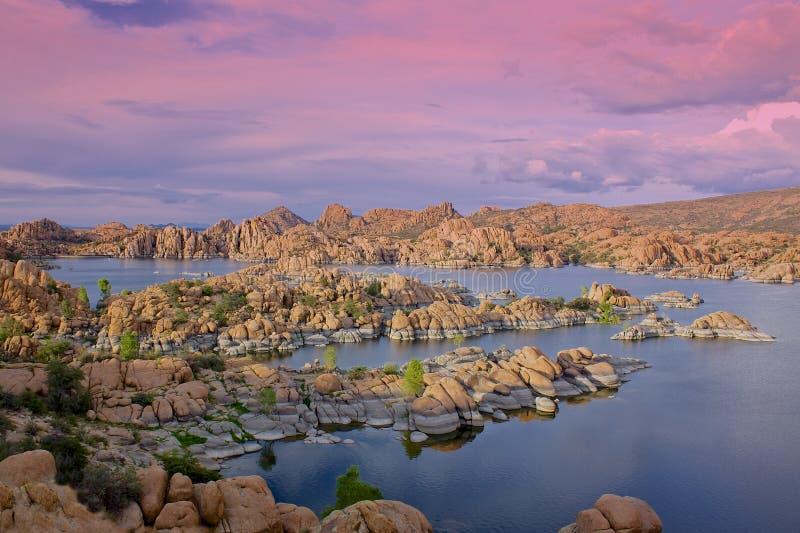 Watson Lake Sunset royalty free stock photography