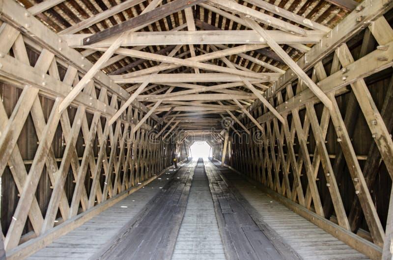 Watson Mill Covered Bridge Georgia historique images stock