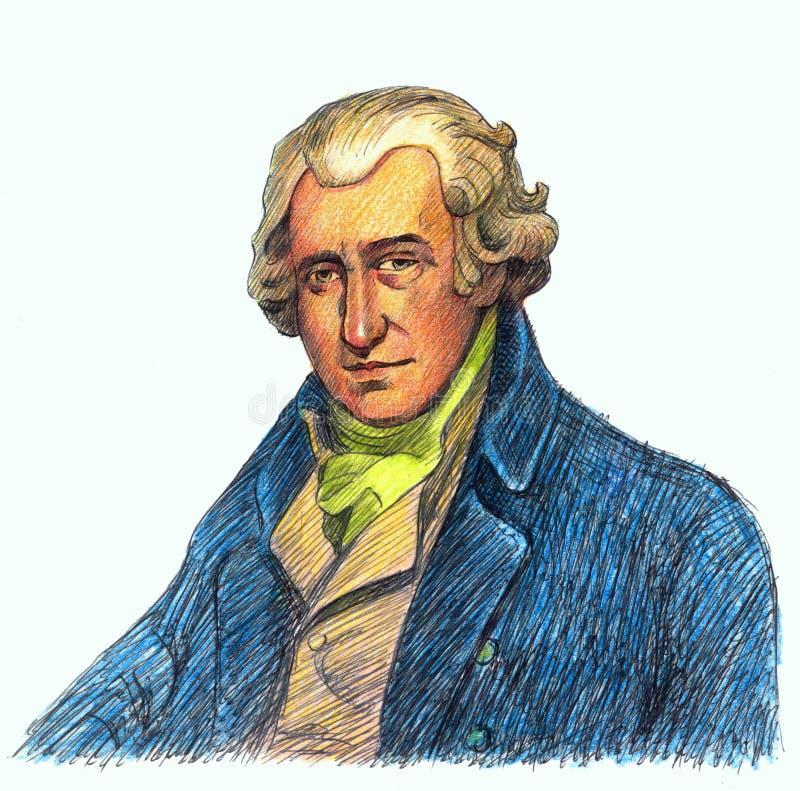 Watt de James ilustração do vetor