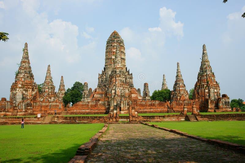 wattanaram för ayutthayachai thailand wat fotografering för bildbyråer