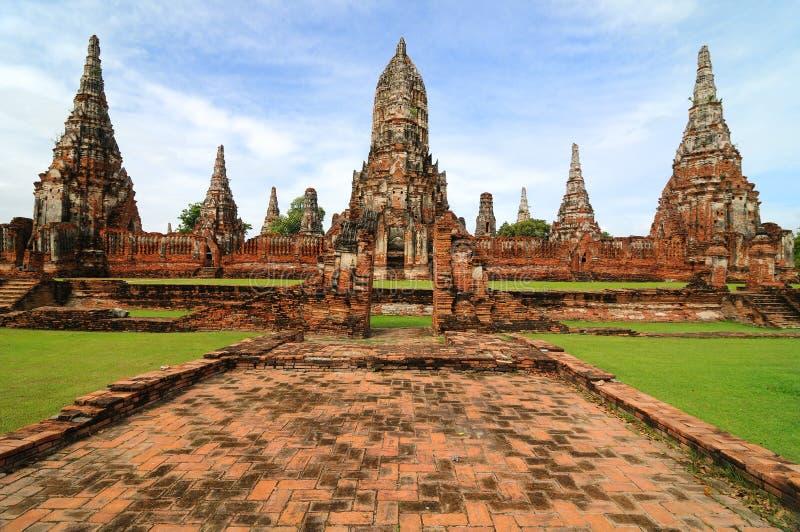 wattanaram för ayutthayathailand wat royaltyfria foton