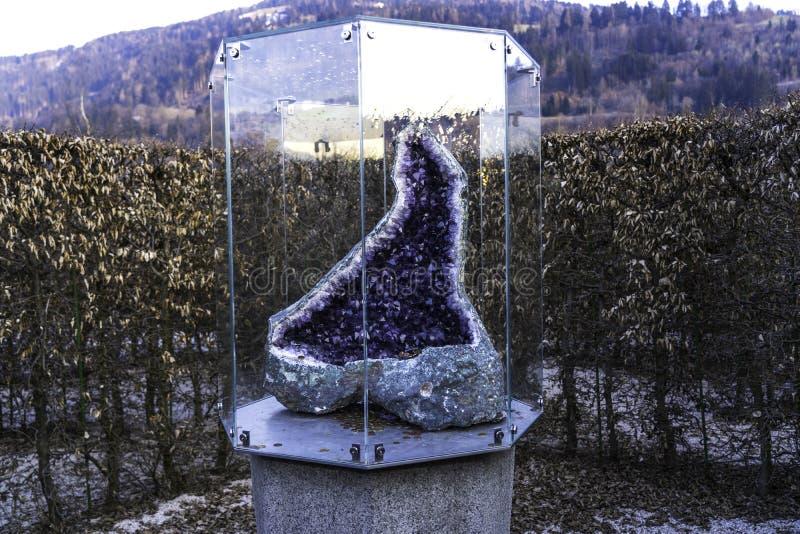 Wattens, INNSBRUCK, AUSTRIA - April 1, 2019: The beautiful crystals in Swarovski Kristallwelten Crystal Worlds . Swarovski. Crystal Worlds Innsbruck museum stock photo