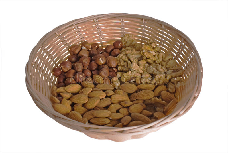 Download Wattled basket with nuts stock photo. Image of brown - 11456110