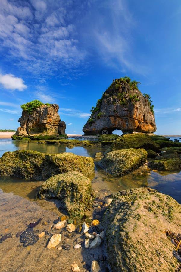 Watu Maladong, Sumba, Indonésie photos stock