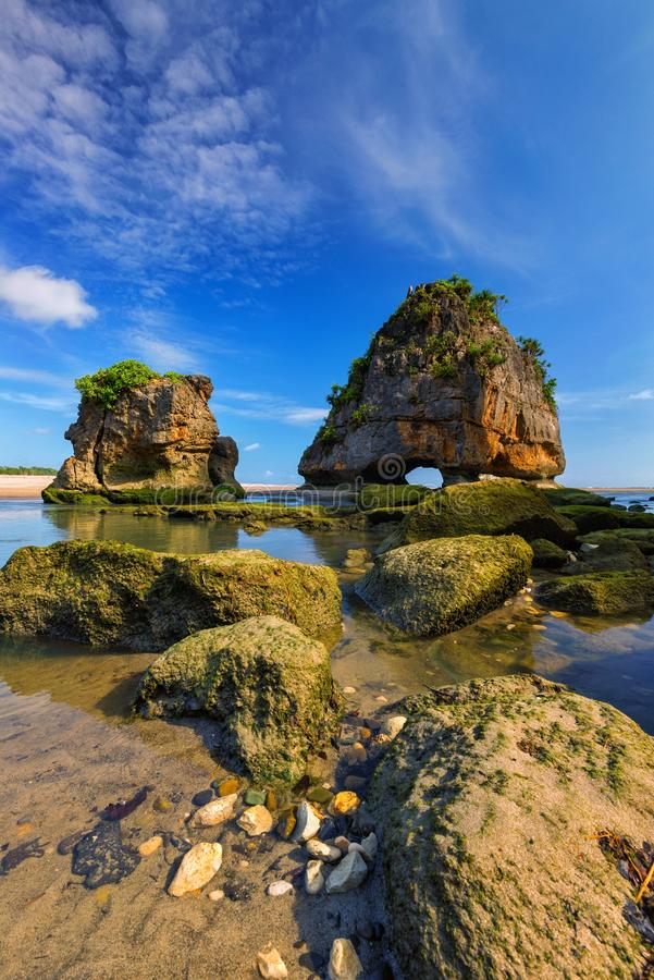 Watu Maladong, Sumba, Indonezja zdjęcia stock