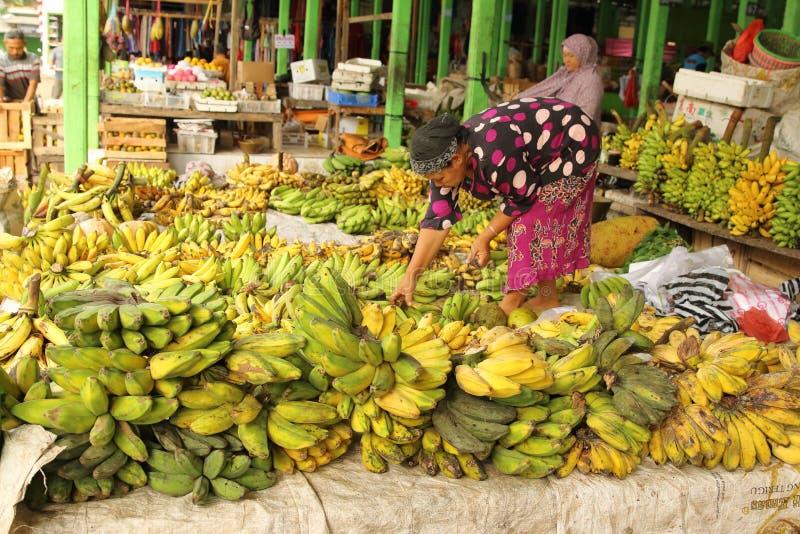 Watulimo Market, Trenggalek East Java, Indonesien arkivbilder