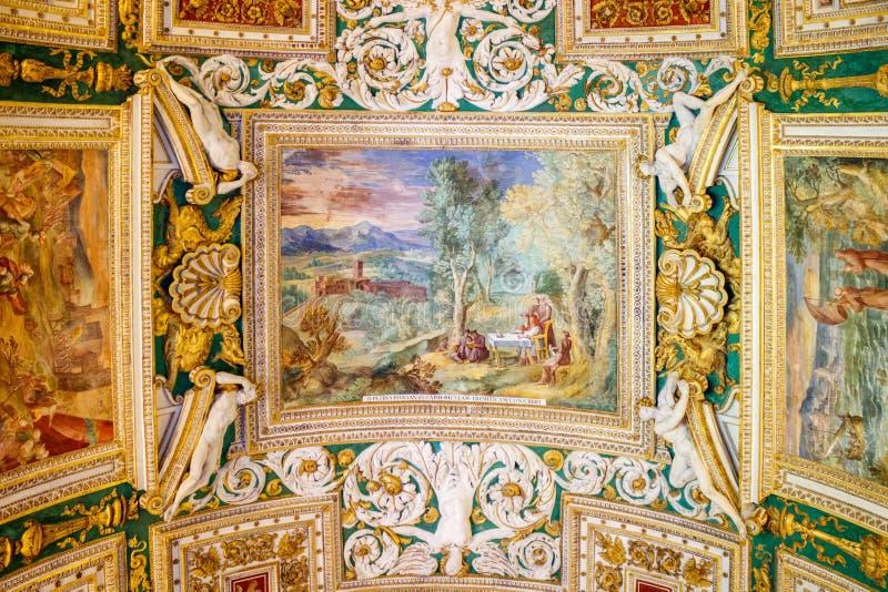 Watykańscy muzea - galeria mapy zdjęcia royalty free