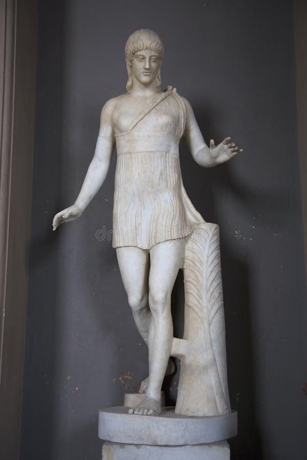 Watykańscy muzea, Musei Vaticani, są jawnym sztuką i rzeźbią muzea w watykanie który pokaz pracy od ex, zdjęcie royalty free