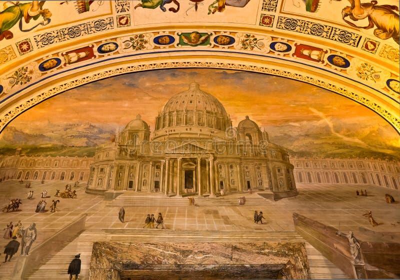 Watykańscy muzea - stropujący obrazy royalty free