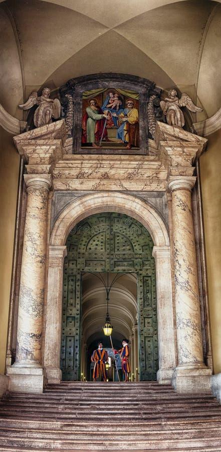 Watykańscy strażnicy obraz stock