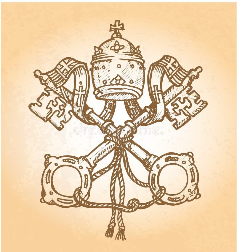 Watykański symbol ilustracja wektor