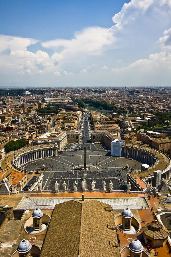 Watykanu widok obraz royalty free