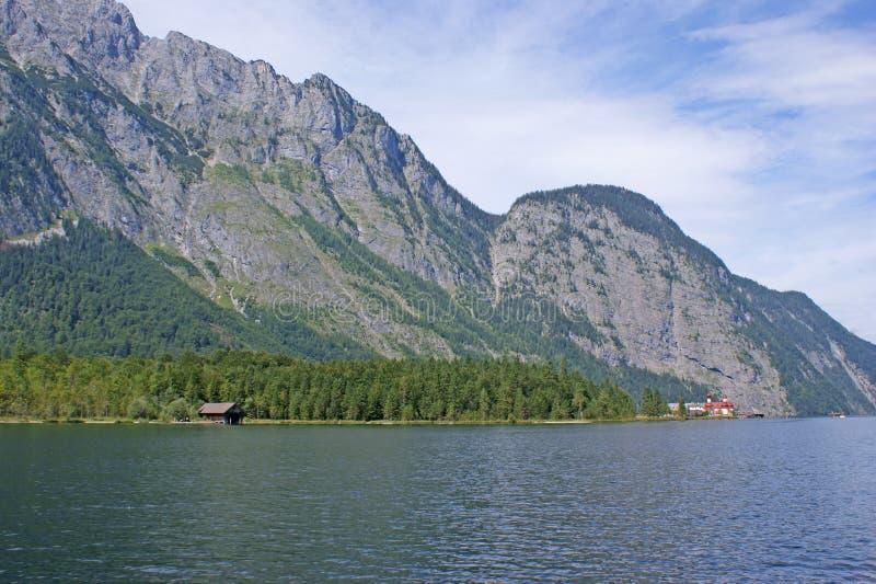 The Watzmann massiv from Lake Koenigssee royalty free stock image