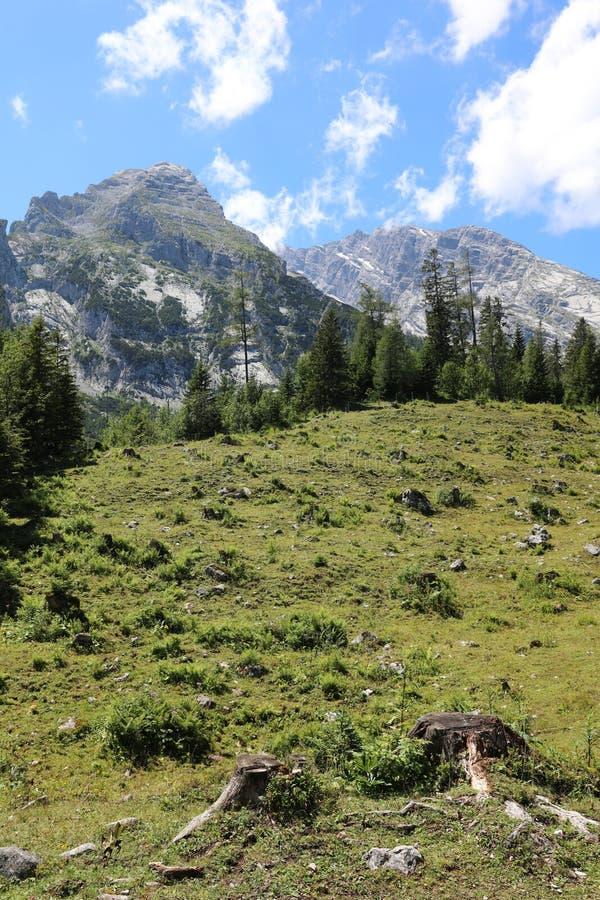 Watzmann mountain peak. National Park Berchtesgadener Land. Bavaria. Germany royalty free stock photo