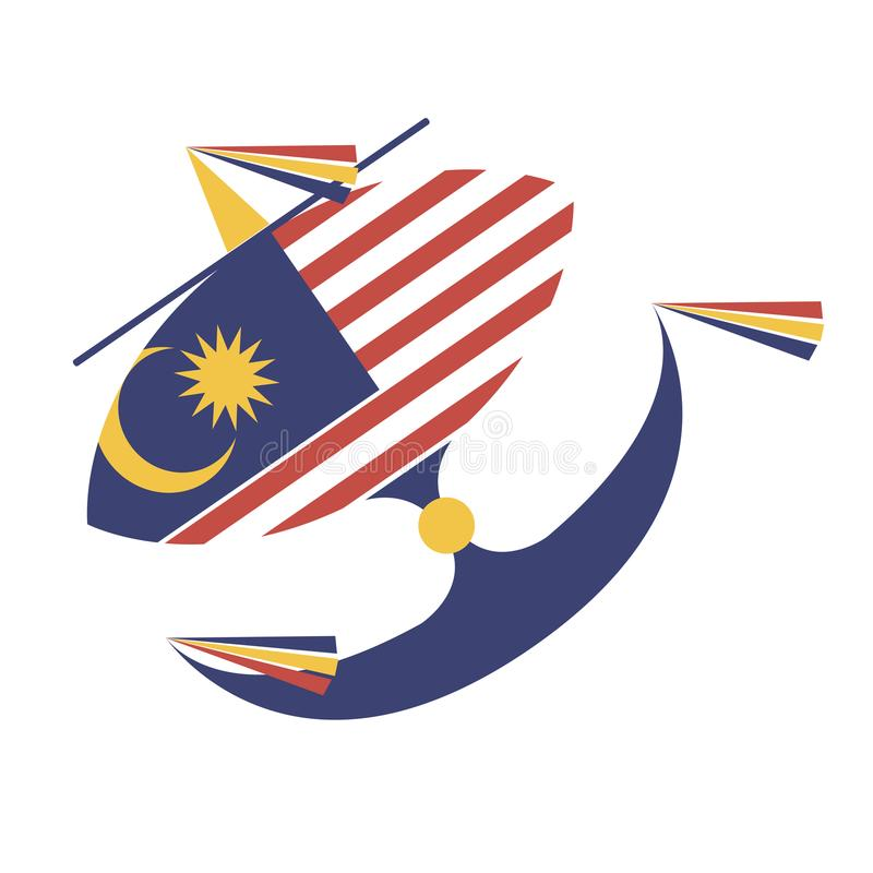 Wau bulan malaysiskt royaltyfria bilder