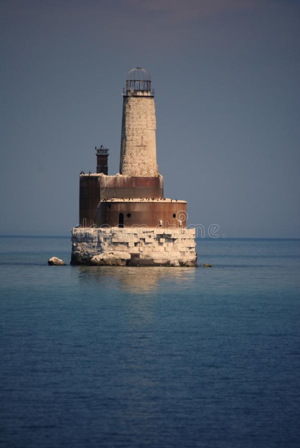 Waugoshance tłumu latarnia morska obrazy royalty free