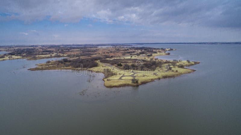 Waurika sjö som är reko royaltyfri foto