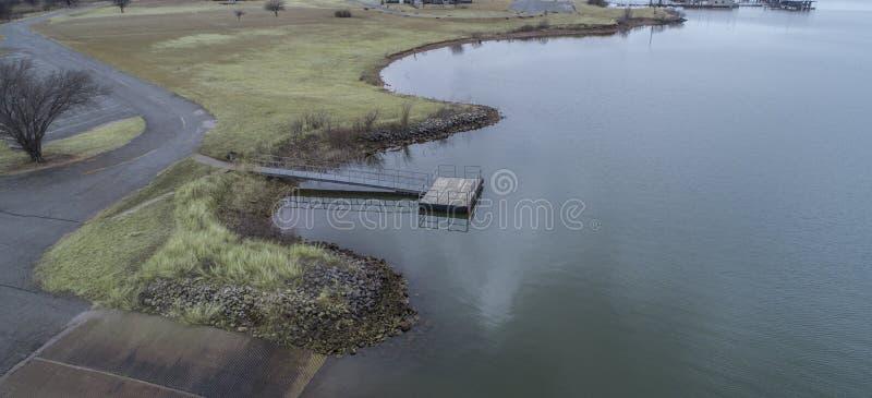 Waurika sjö som är reko arkivfoto