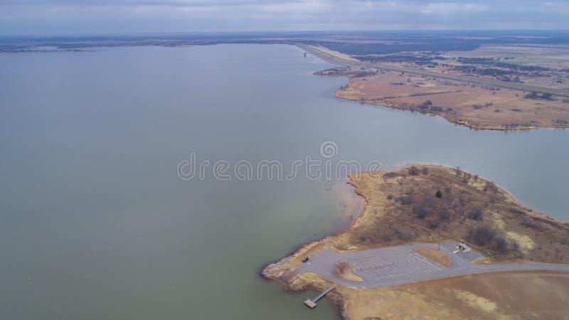 Waurika sjö som är reko royaltyfri fotografi