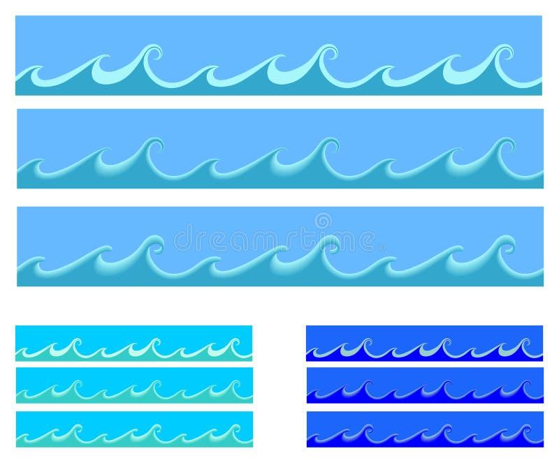 wave stock illustrationer